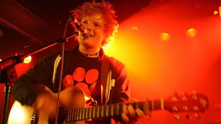 Ed Sheeran performing at the Waterfront in Norwich while on the road to become a global star. Pictur