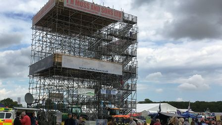 The viewing tower proved very popular at the Suffolk Show. Picture: PAUL GEATER