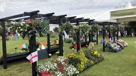 The pergola and flowerbeds were built by Easton and Otley College students, earning them a silver pr