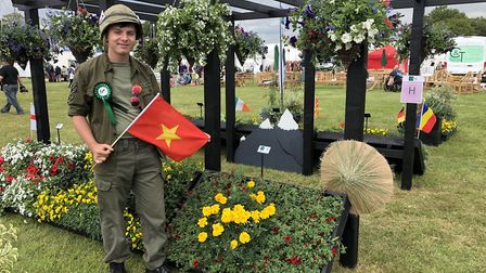 Scott Denny was one of the Easton and Otley College horticulture students that earned the silver awa