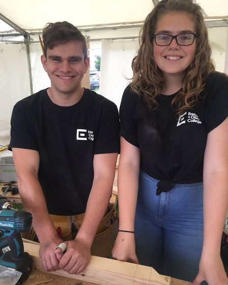 Adam Strowger and Rebekkah Bunting as Easton and Otley College picked up more awards at the Suffolk