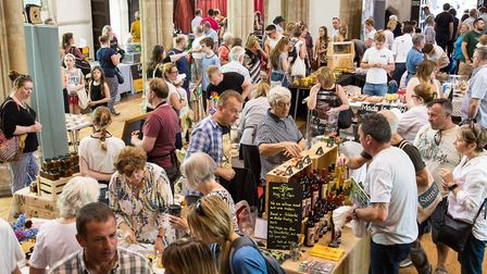 Sample local food and meet the producers in St Peter's Church, Sudbury Picture: Emma Cabielles