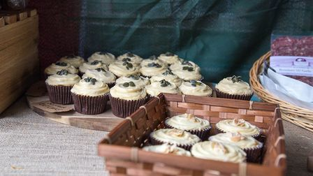 Cakes lined-up ready to sell at Taste of Sudbury Picture: Emma Cabielles