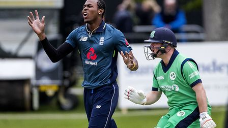 Jofra Archer (left) is in England's World Cup squad. Picture: PA SPORT