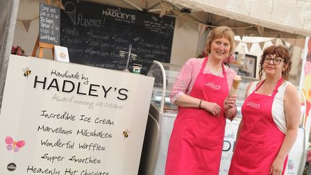 Jane Hadley and Vanessa Brown from Hadley's Ice Cream Picture: Sarah Lucy Brown