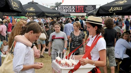 The popular Eat Street at the Suffolk Show Picture: Warren Page