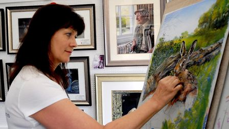 The Art Show is a quiet space to watch artists at work. Picture: Suffolk Agricultural Association