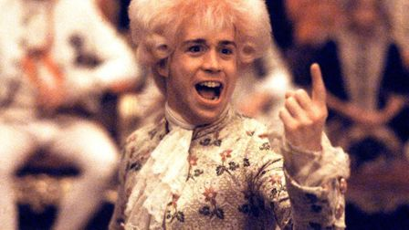 Tom Hulce in Amadeus one of the greatest bio-pics ever made. Photo: Warner Bros