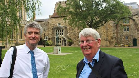 Ian Tant (left), President of the RTPI with Richard Summers, a former RTPI president and coordinator