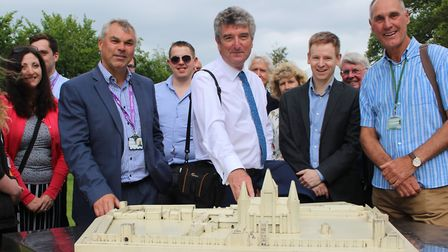 Ian Tant, President of the RTPI, with representatives of the Heritage Partnership including West Suf
