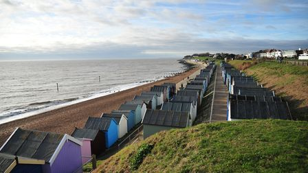 Old Felixstowe beach is set to be packed today as people enjoy temperatures above 25C Picture: SARAH