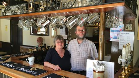 Liz and Tony Fayers, who have been landlord and landlady of the Rose and Crown pub in Bury St Edmund