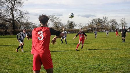 Action from Haughley v Henley earlier this season. Photo: JAMES STARLING