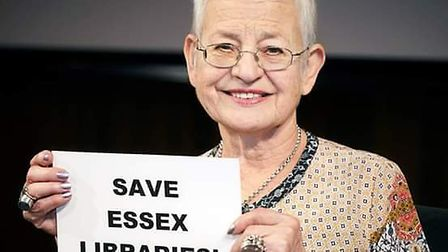 Dame Jacqueline Wilson joins famous faces fighting to save Essex libraries. Picture: TESSA HALLMAN