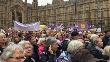 Campaigners descend on Westminster in 2017. Picture: KAREN SHELDON
