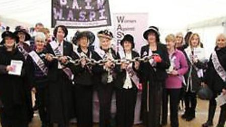 WASPI campaigners attended at event at Gressenhall. Photo: Pension Action in Norfolk