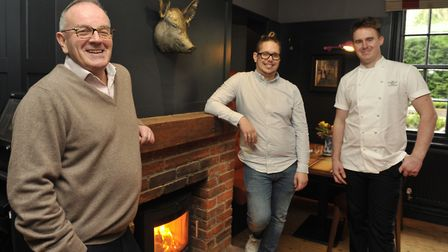 The Unruly Pig owner Brendan Padfield, manager Kevin Hunter and head chef Dave Wall Picture: SU AND
