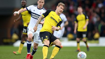 Coventry City have signed experienced defender Kyle McFadzean from Burton Albion. Photo: PA