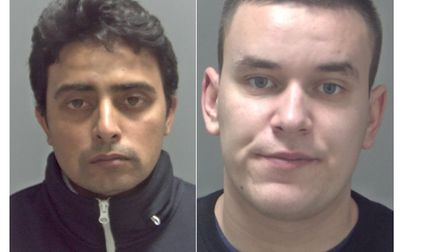 Ajay Rana and Dainius Ziupka have been jailed in Suffolk this week. Picture: SUFFOLK CONSTABULARY