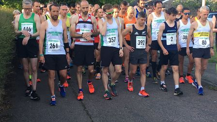 Runners prepare for the start of the Framlingham Flyers Friday Five race. Picture: CARL MARSTON