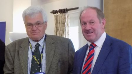 David Overton (left) pictured with Police and Crime Commissioner Tim Passmore Picture: SUFFOLK POLIC