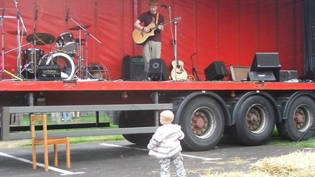 Smaller crowds in the early years... Ed Sheeran, aged 15, performing at Moon fest, organised by the
