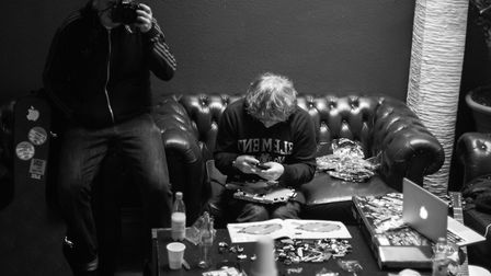 A Mark Surridge photograph of Ed Sheeran in his dressing room, European tour, March 2012 Picture: M