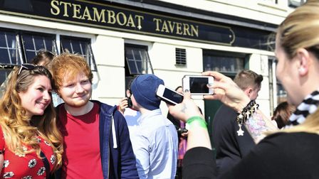 Ed performed at secret gig at The Steamboat Tavern, Ipswich, in 2014 Picture: Lucy Taylor