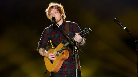 Ed Sheeran will perform four gigs in Ipswich this August. Picture: PA