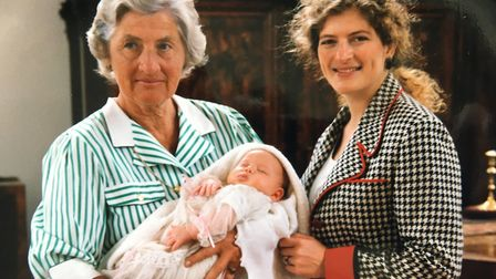 'Granny Seaside' with her daughter, Mary Ann Sieghart, and granddaughter Evie Prichard Picture: FAM