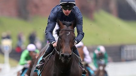 Sir Dragonet ridden by Donnacha O'Brien wins The MBNA Chester Vase Stakes, during Boodles City Day a