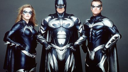 Batman and Robin with Alicia Silverstone, George Clooney and Chris O'Donnell Photo: PA/Warner Bros