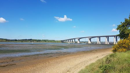The River Orwell and the bridge, between Pipers Vale and Bridge Wood Picture: MARK NUNN