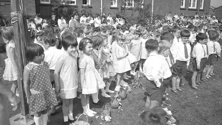 Kingsmead May Queen day at Stowmarket middle school in 1968 Picture: ARCHANT