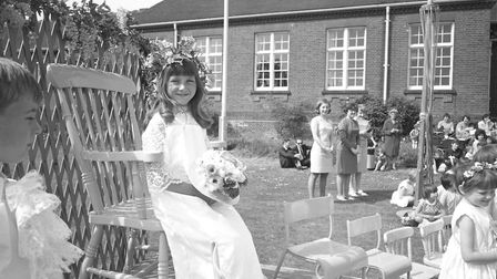 Crowning of the Kingsmead May Queen day at Stowmarket Middle School in 1968 Picture: ARCHANT