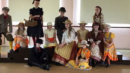 The cast of Honk! The Co-op Juniors present Honk! at the Seckford Theatre, Woodbridge, on Saturday,