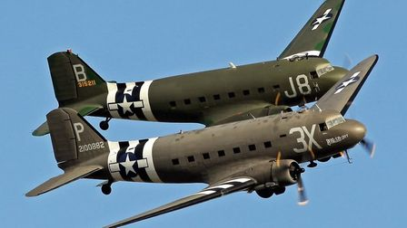 The air armada flew over Suffolk and Essex on its way to Normandy Picture: DAKS OVER NORMANDY