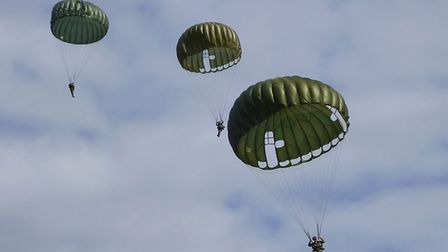 Once over Normandy there will be a parachite drop recreating the jumps made by British and American