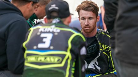Skipper Danny King checks on a dazed Jake Allen after the crash that put him out for two weeks. He's
