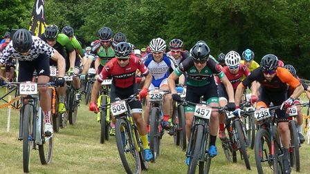 The Vets 40-49 race gets underway at Thickthorn. Picture: FERGUS MUIR