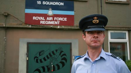 Squadron Leader David Ford, who will lead the parade Picture: MARK LANGFORD