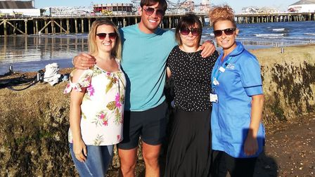 Jack Fincham was spotted in Clacton today filming with ITV. Picture: LEANNE SHAW