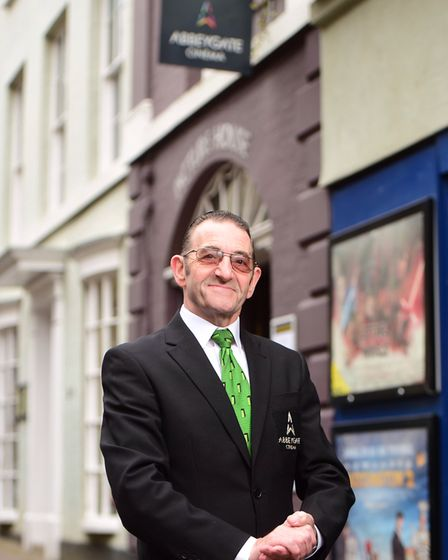 Pat Church, of Abbeygate Cinema, outside the venue in Hatter Street, Bury St Edmunds Picture: SARAH