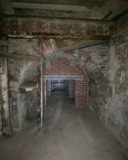 The catacombs under Abbey Cinema Picture: ABBEYGATE CINEMA