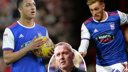 Paul Lambert (inset) has challenged Ipswich Town's young players such as Myles Kenlock and Teddy Bis
