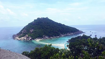 A picture taken from the Viewpoint on Koh Nang Yuan Island. Picture: CHARLOTTE MCCLURE