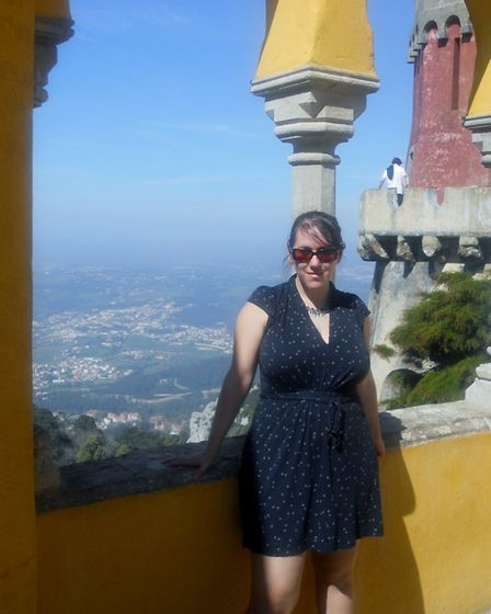 Charlotte Smith-Jarvis at the top of Pena Palace. Picture: CHARLOTTE SMITH-JARVIS