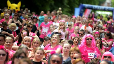 Hundreds of people ran in memory of their loved ones in the Bury St Edmunds Race for Life Picture: