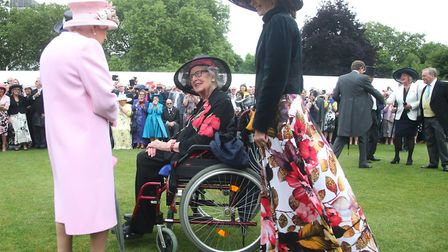 The Queen with Margaret Baxter, 96, who previously met the Queen at the end of the Second World Wa