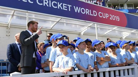 The Duke of Sussex attends the opening match of the 2019 ICC Cricket World Cup between England and S